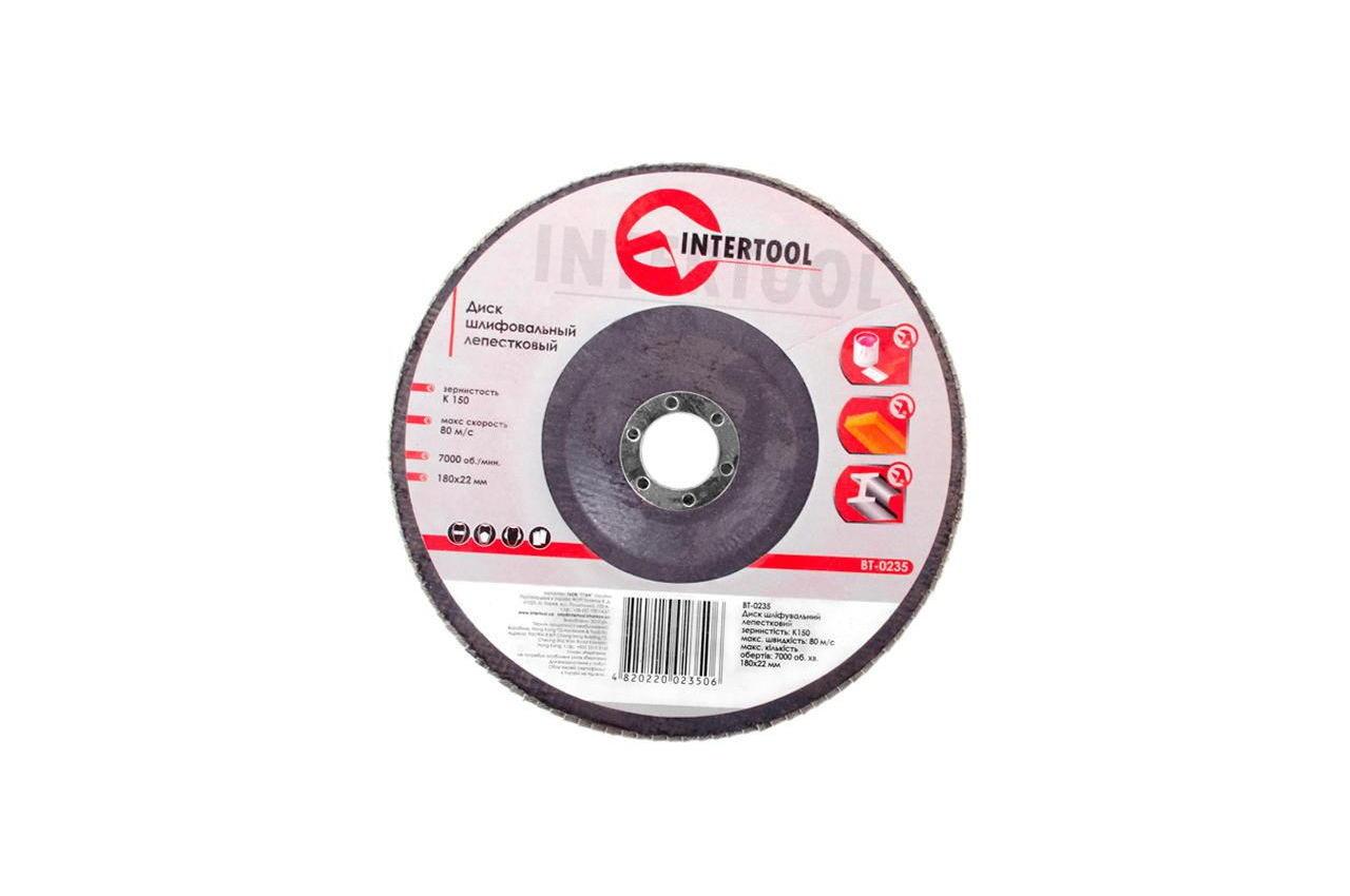 Круг лепестковый торцевой Intertool - 180 мм Р150 3