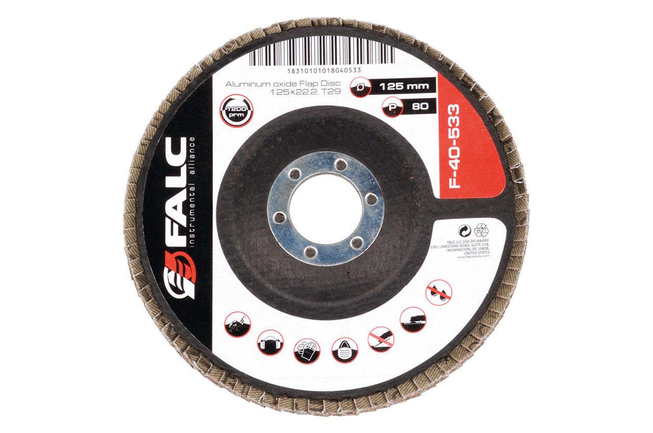 Круг лепестковый торцевой Falc - 125 мм Р60 2