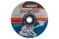 Круг отрезной по металлу Granite - 180 х 1,6 х 22,2 мм