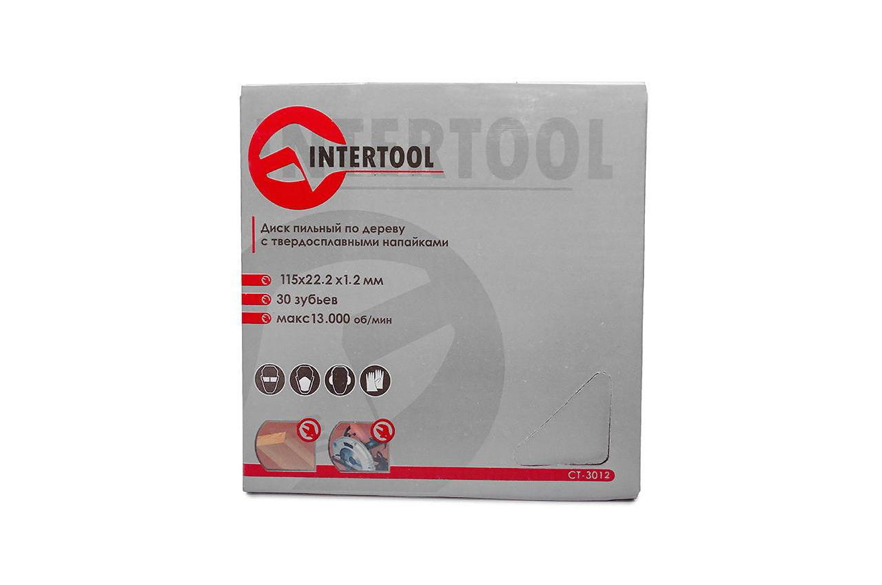 Диск пильный Intertool - 115 х 30T х 22,2 мм 4