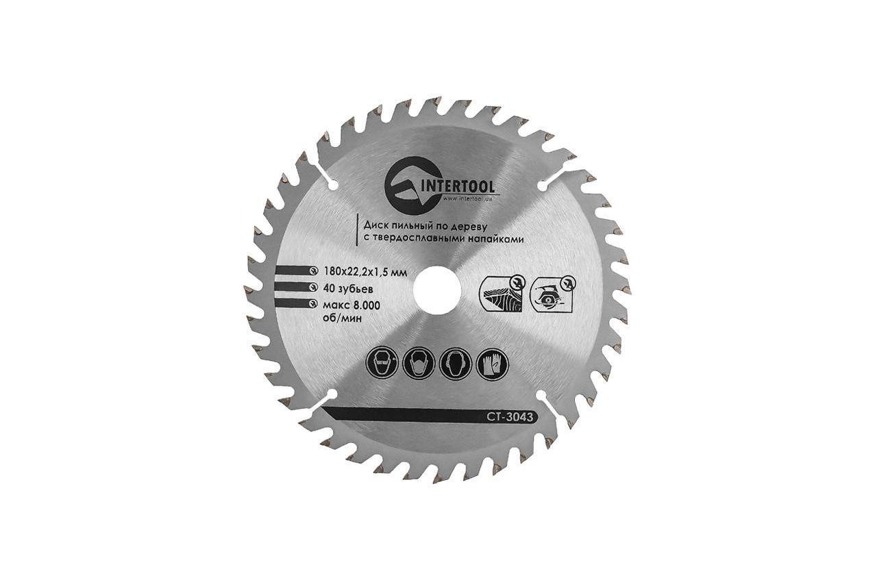 Диск пильный Intertool - 180 х 40T х 20 мм 1
