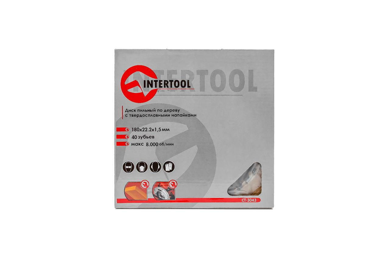 Диск пильный Intertool - 180 х 40T х 20 мм 5