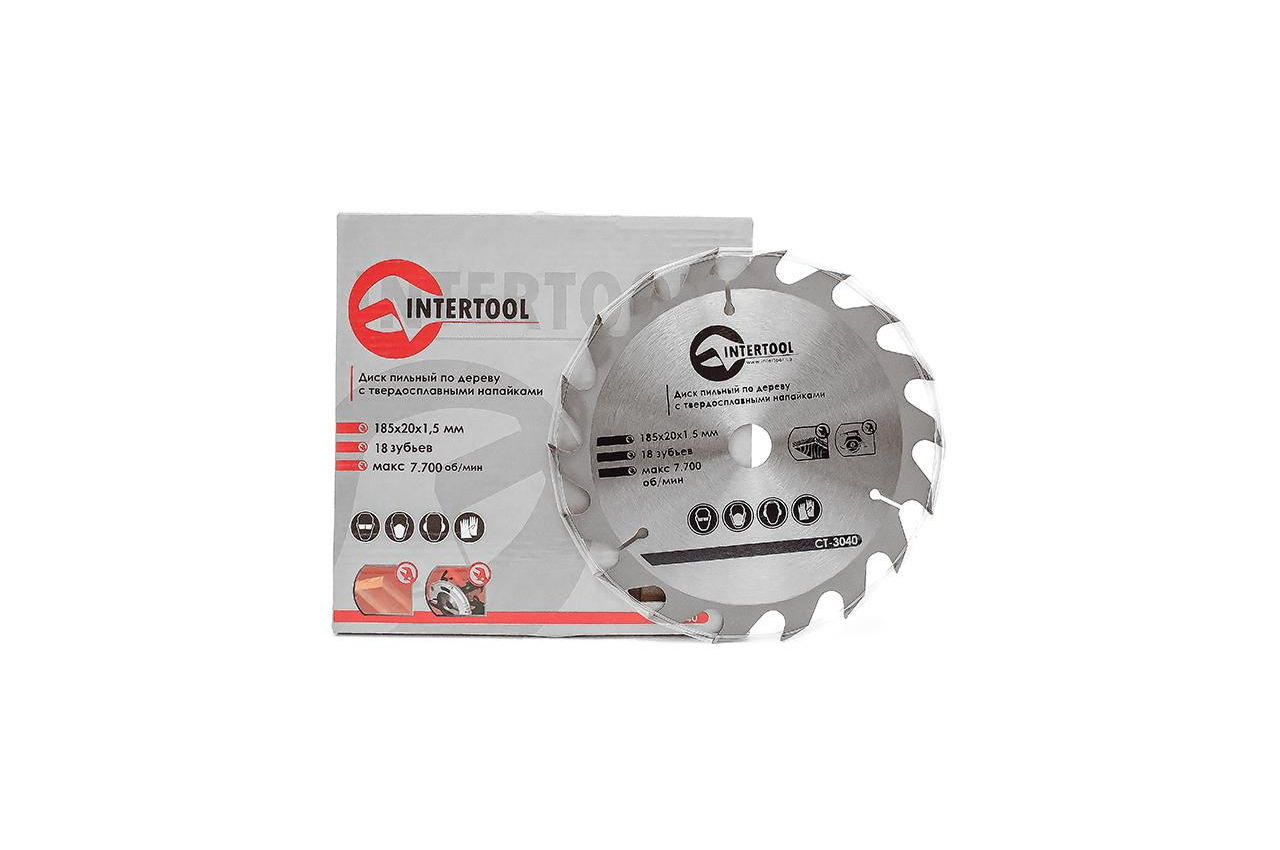 Диск пильный Intertool - 185 х 18T х 20 мм 3