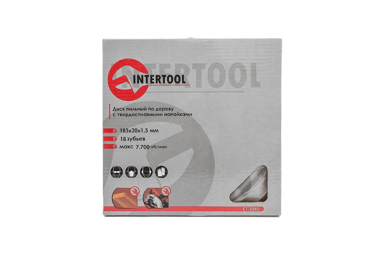 Диск пильный Intertool - 185 х 18T х 20 мм 4