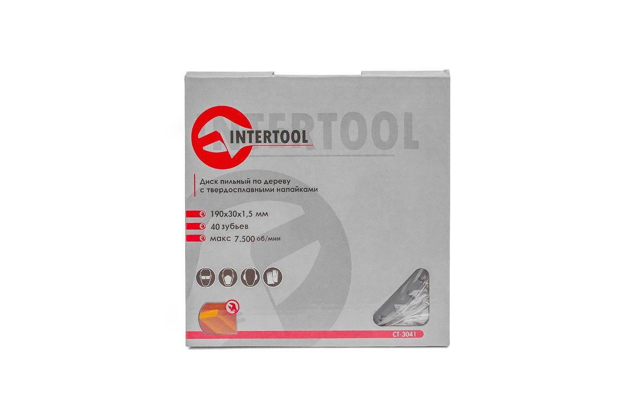 Диск пильный Intertool - 190 х 40T х 30 мм 4