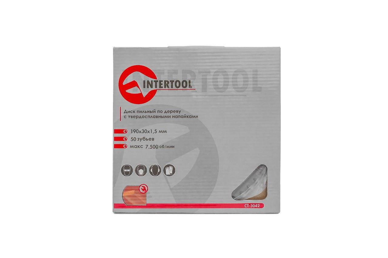 Диск пильный Intertool - 190 х 50T х 30 мм 4