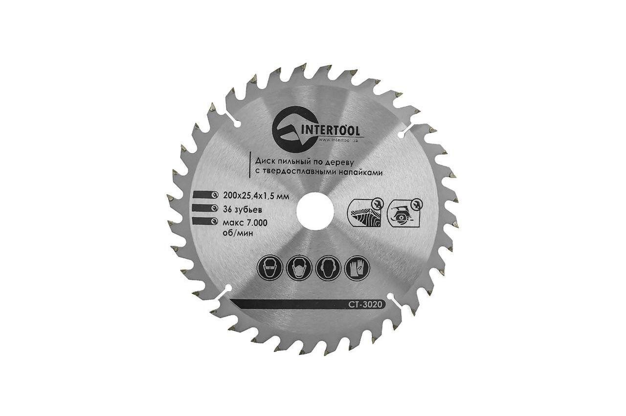 Диск пильный Intertool - 200 х 36T х 25,4 мм 1