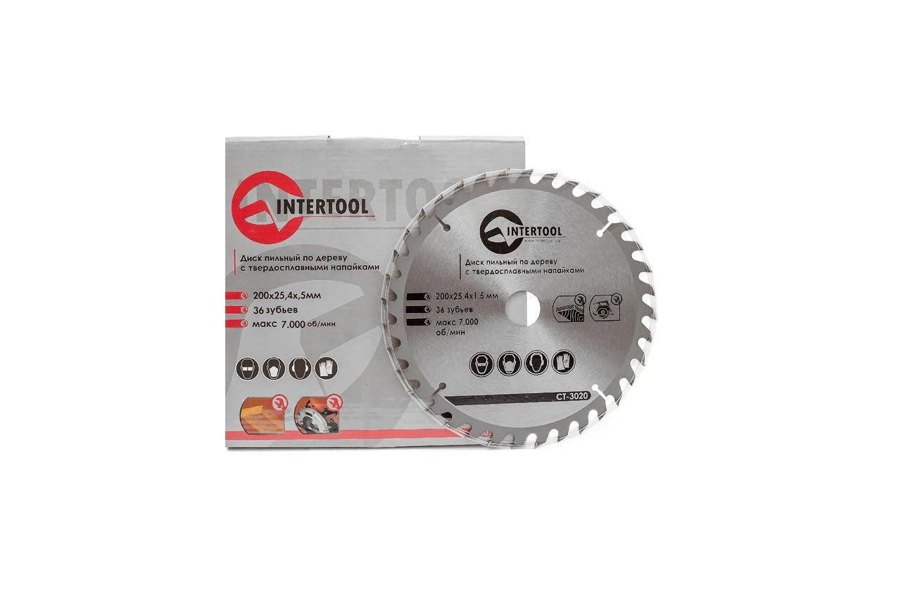 Диск пильный Intertool - 200 х 36T х 25,4 мм 3
