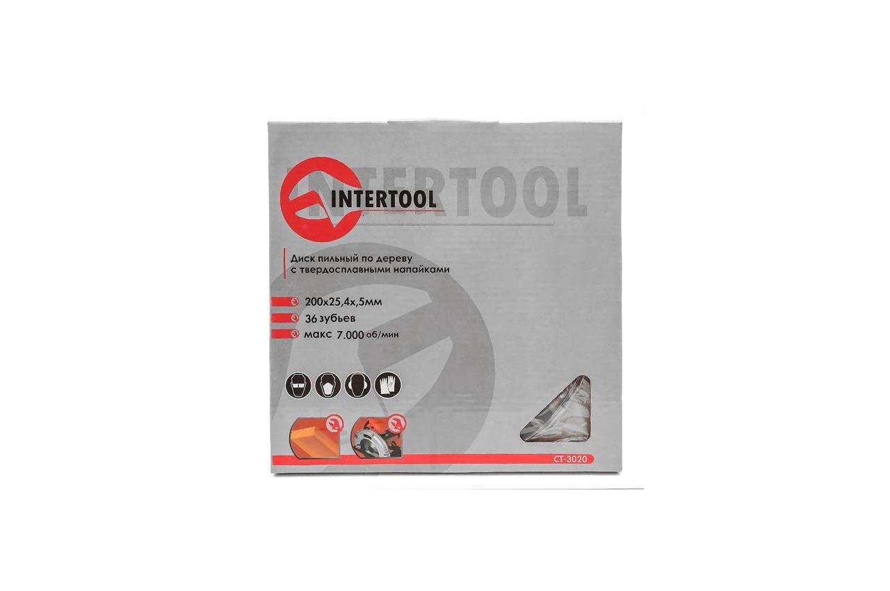 Диск пильный Intertool - 200 х 36T х 25,4 мм 4