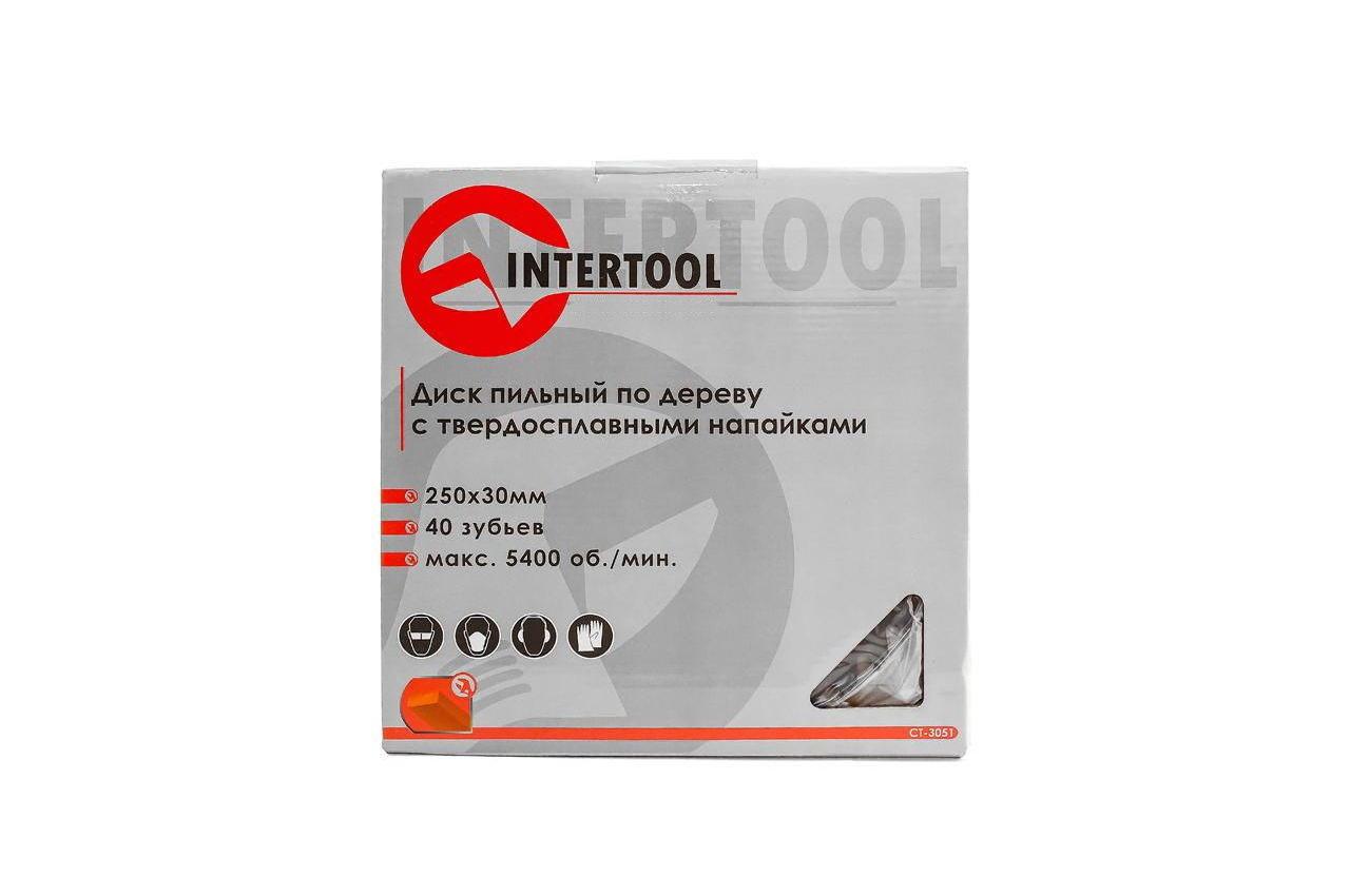 Диск пильный Intertool - 250 х 40T х 30 мм 4