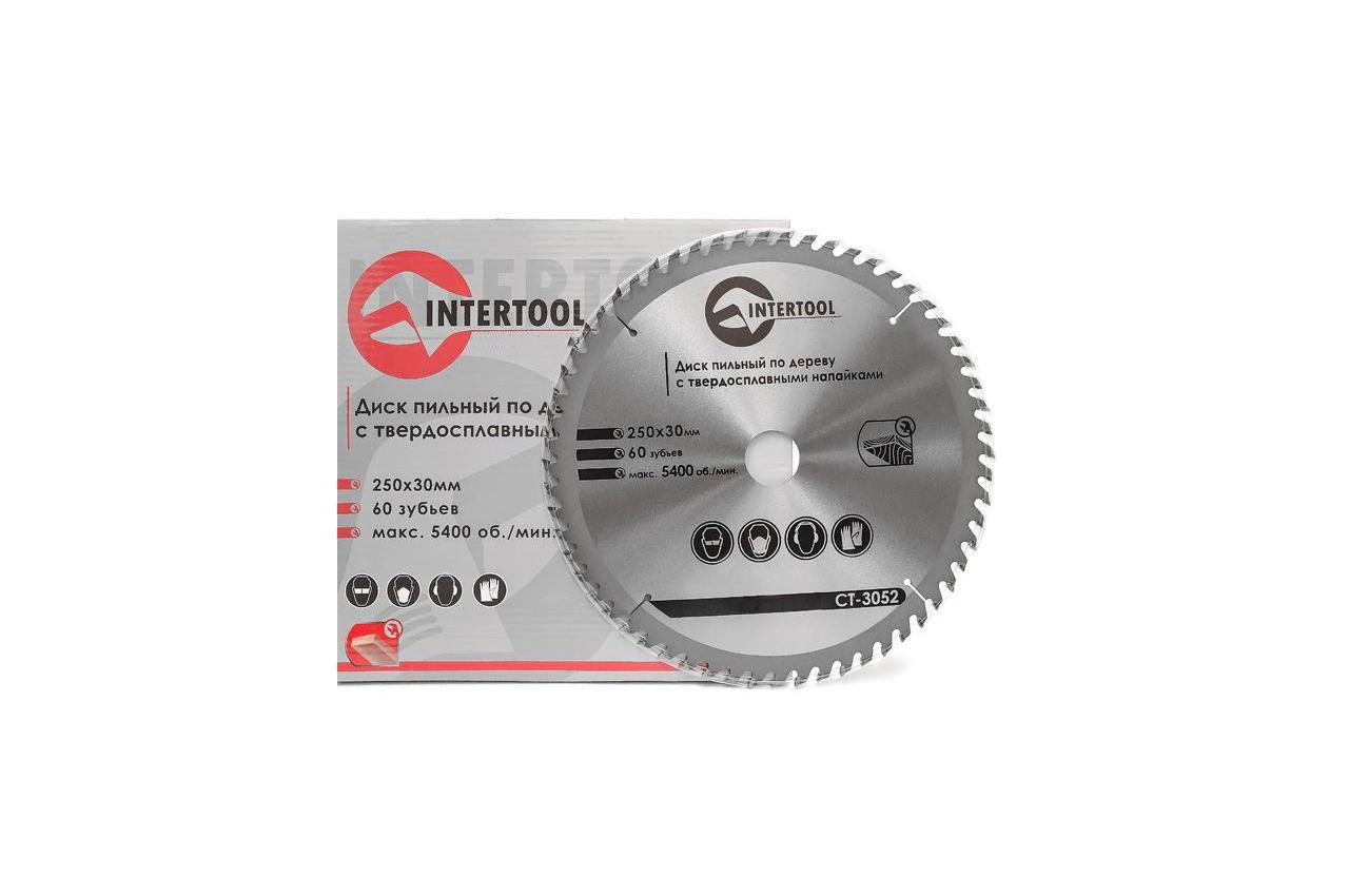 Диск пильный Intertool - 250 х 60T х 30 мм 3