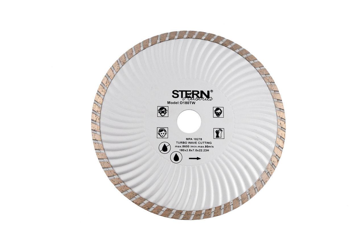 Диск алмазный Stern - 180 мм турбоволна 1