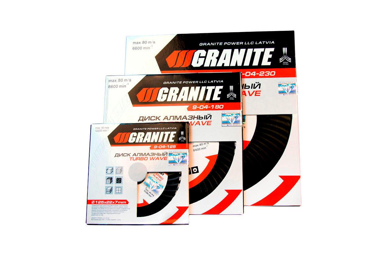 Диск алмазный Granite - 230 мм турбоволна 3