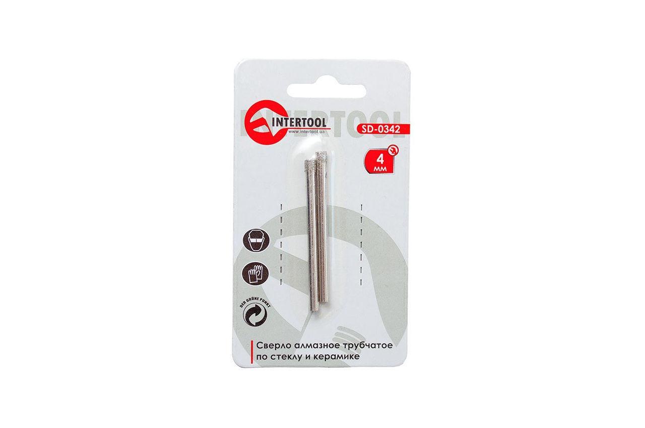 Сверло трубчатое по стеклу и керамике Intertool - 4 мм 1