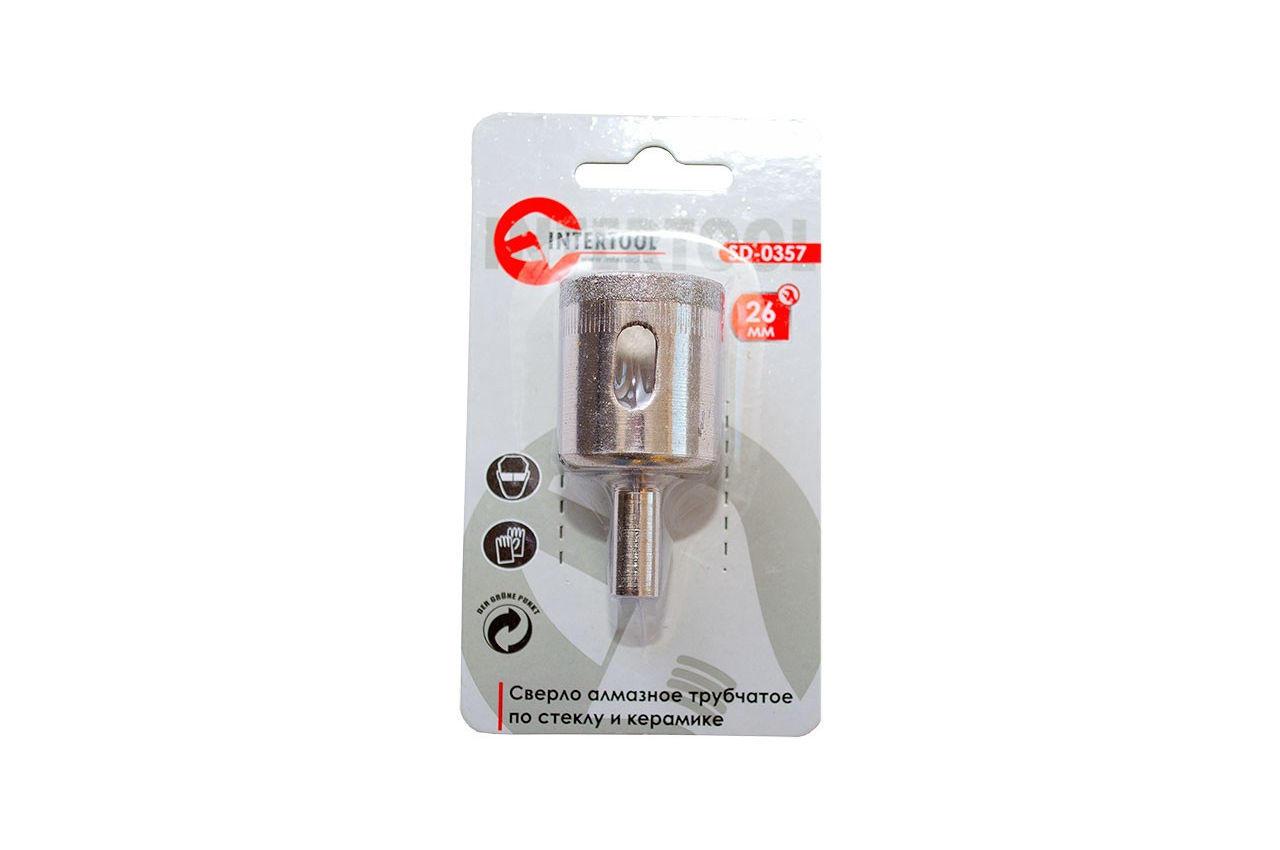 Сверло трубчатое по стеклу и керамике Intertool - 26 мм 1