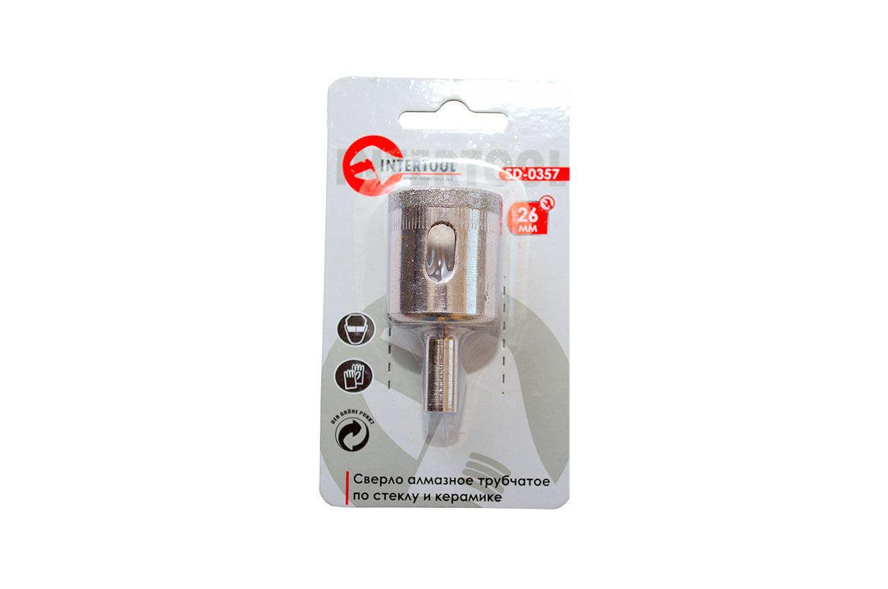 Сверло трубчатое по стеклу и керамике Intertool - 26 мм 3
