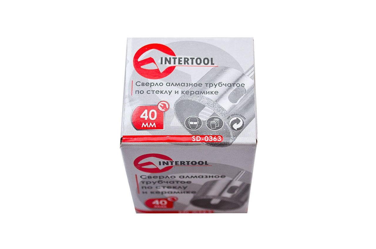 Сверло трубчатое по стеклу и керамике Intertool - 40 мм 3