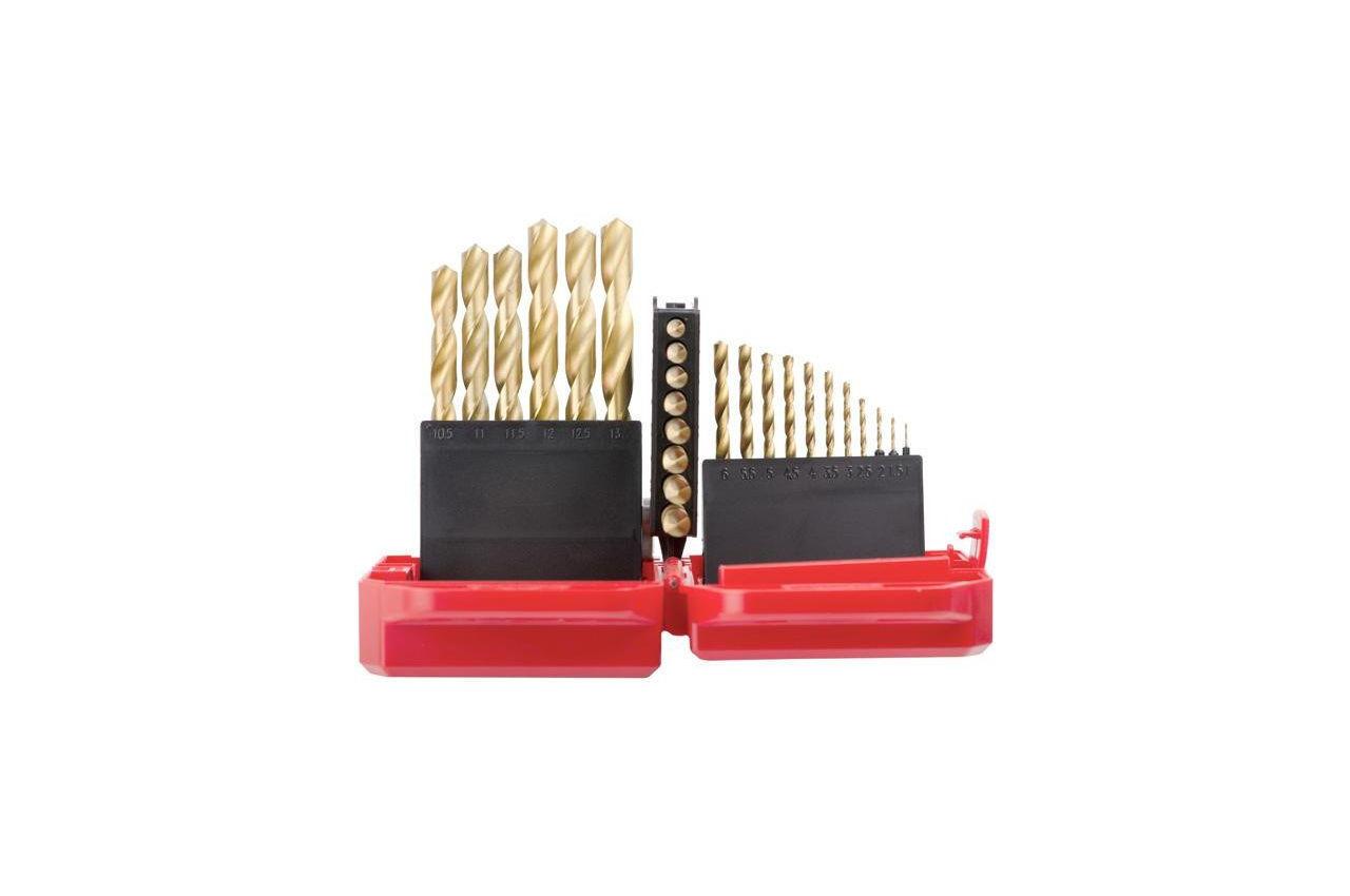 Набор сверл по металлу Intertool - 25 шт. (1-13 мм), титан 8