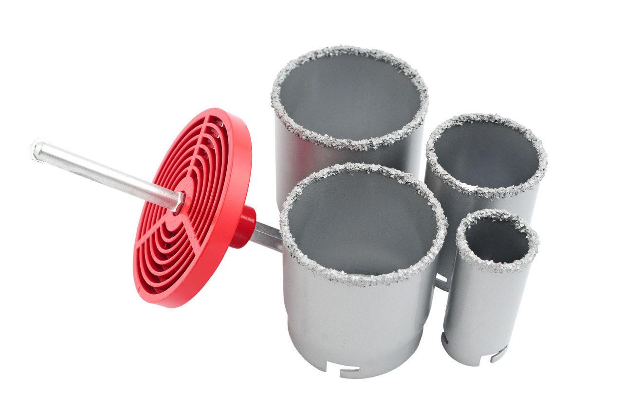 Набор корончатых сверл по плитке Intertool - 4 шт. (33, 53, 67, 73 мм) 1