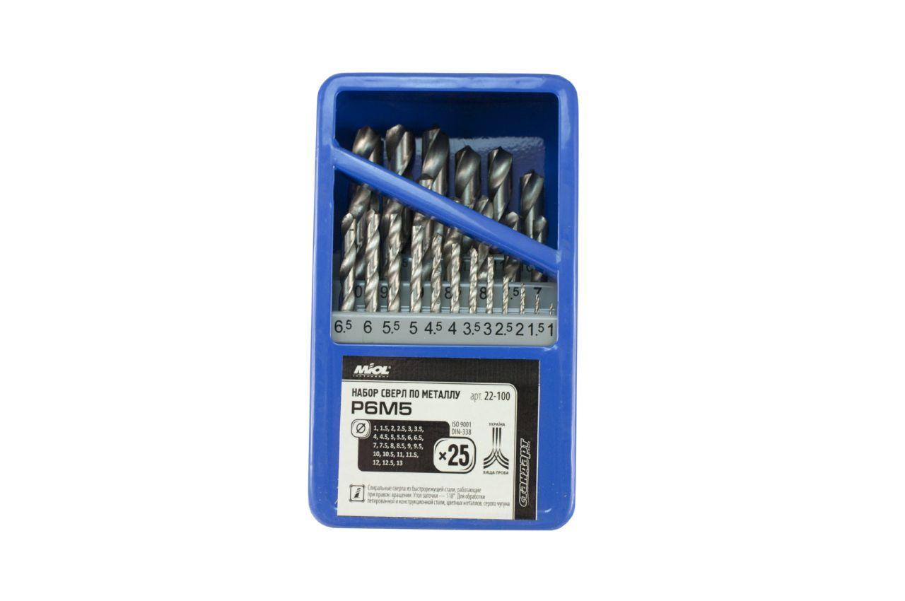 Набор сверл по металлу Miol - 25 шт. (1-13 мм) 3