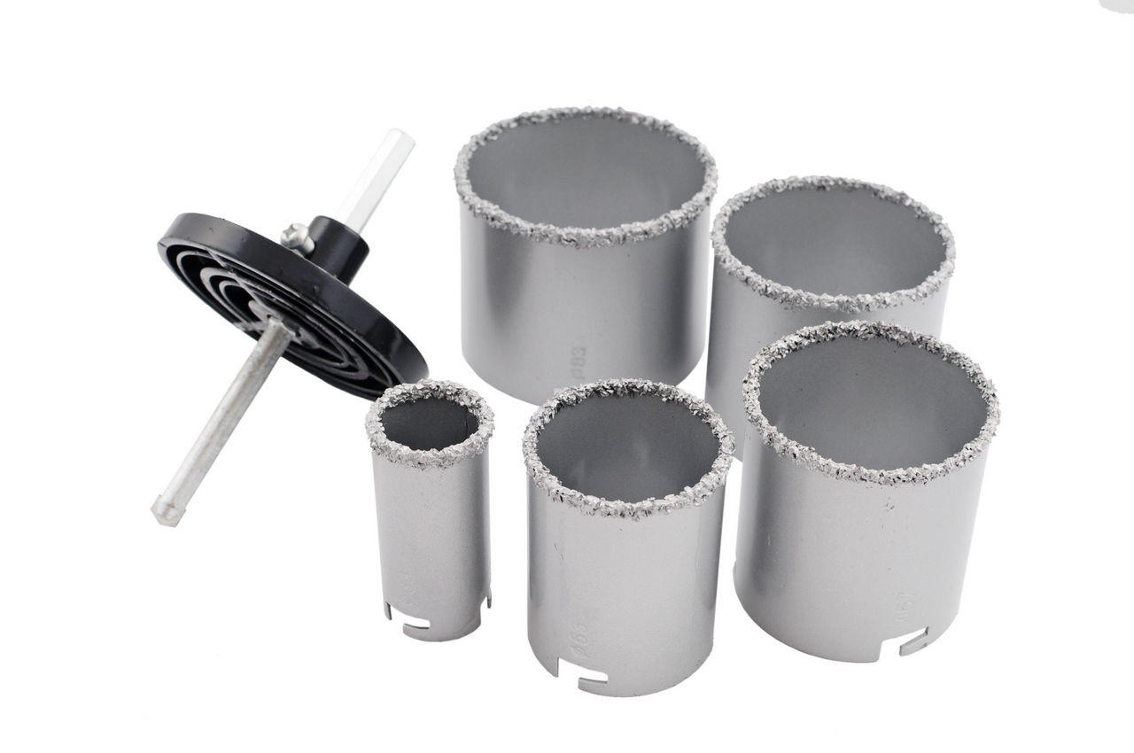 Набор корончатых сверл по плитке Miol - 5 шт. (33, 53, 67, 73, 83 мм) 1