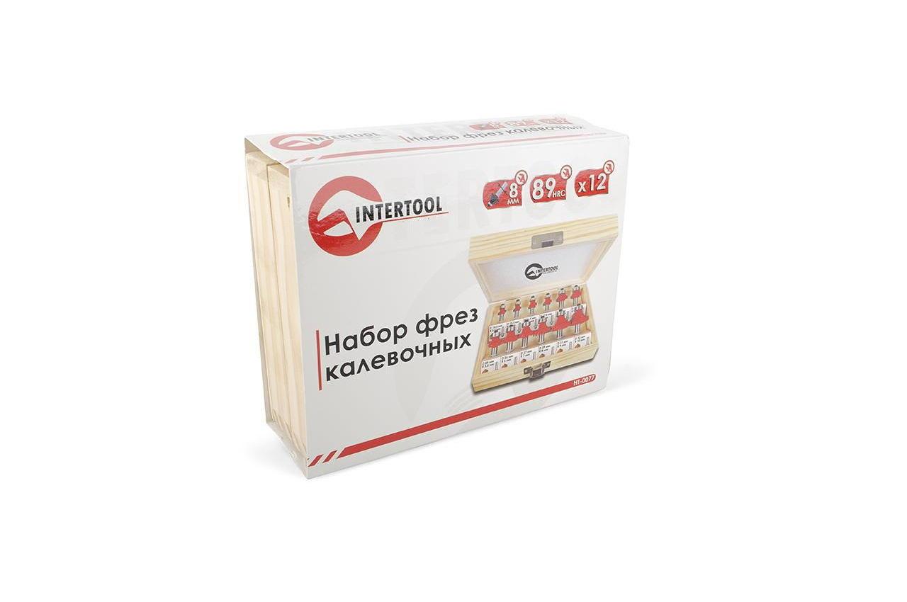 Набор фрез калевочных Intertool - 12 шт. 9