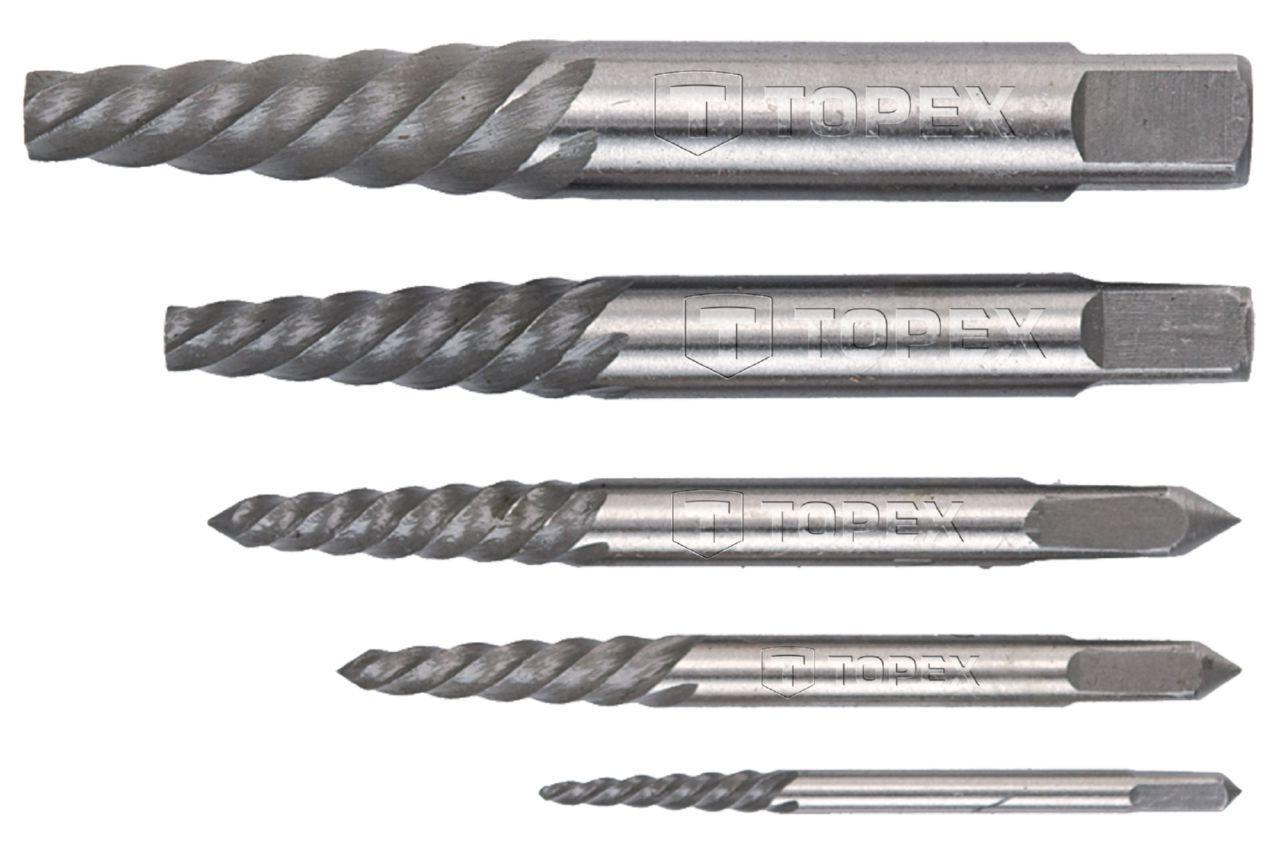 Набор экстракторов для винтов Topex - 5 шт. (3,3-19 мм) 3