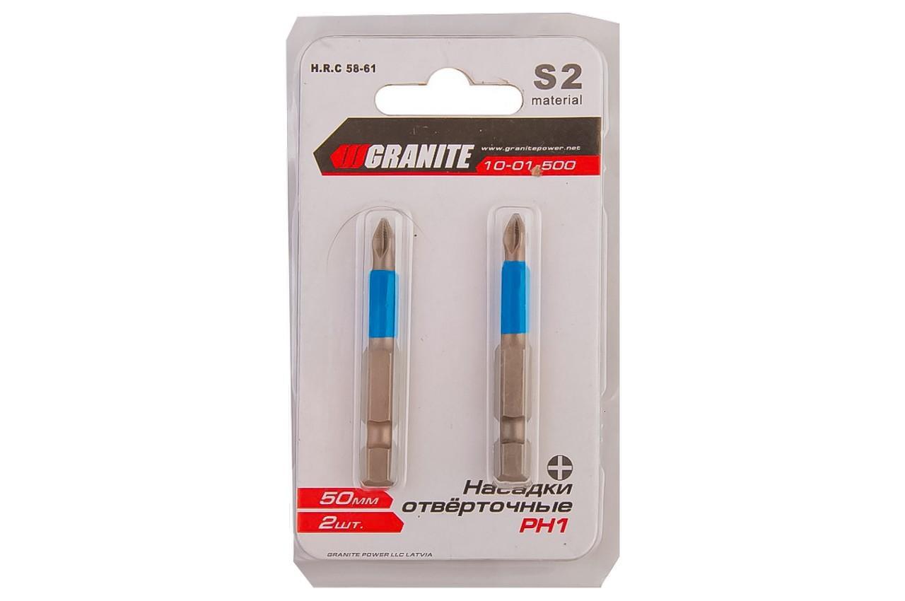 Бита Granite - PH1 х 50 мм, титан 2