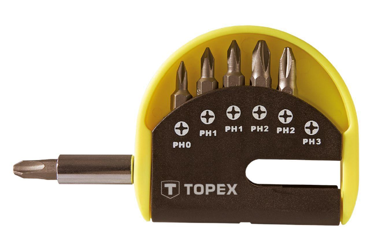Набор бит с удлинителем Topex - 7 шт. (PH) 1