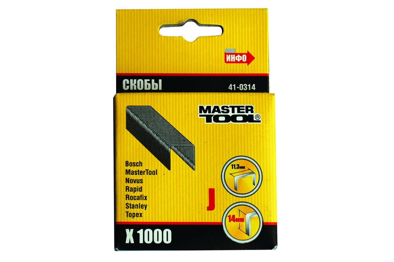 Скоба Mastertool - 14 мм (1000 шт.) 2