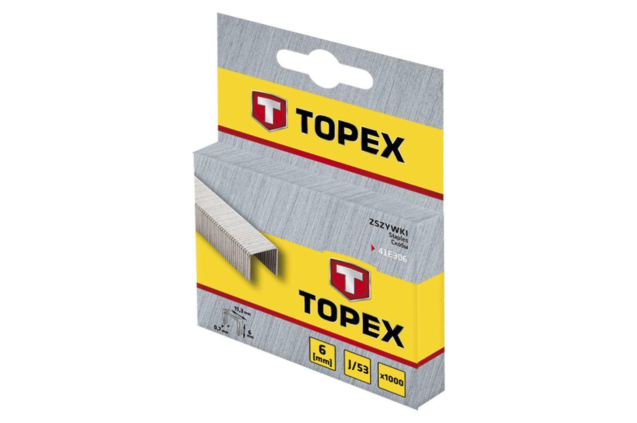 Скоба Topex - 6 х 0,7 мм (1000 шт.) 2