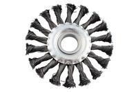 Щетка дисковая Intertool - 180 мм плетеная
