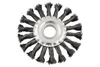 Щетка дисковая Mastertool - 115 мм, плетеная
