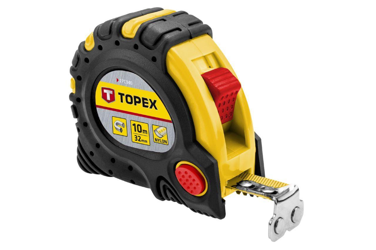 Рулетка Topex - 10 м х 32 мм, супер-магнит 1