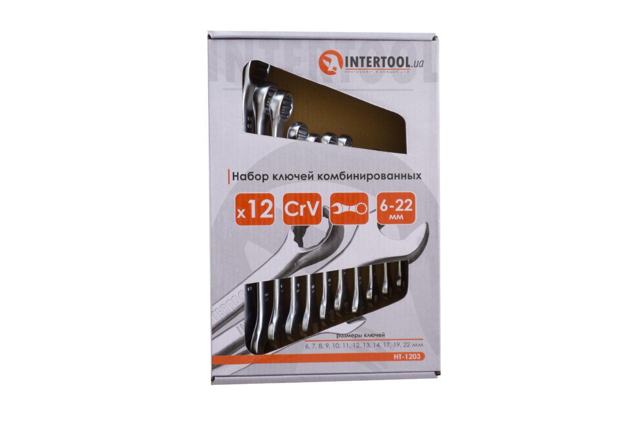 Набор рожково-накидных ключей Intertool - 12 шт. (6-22 мм) 2