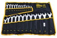 Набор рожково-накидных ключей Mastertool - 25 шт. (6-32 мм), ролл