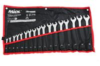 Набор рожково-накидных ключей Miol - 12 шт. (13-32 мм), ролл