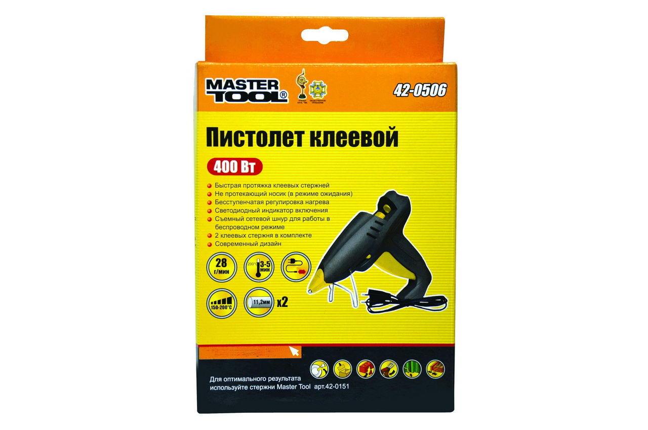 Пистолет клеевой Mastertool - 400 Вт, 28 г/мин, беспроводной 2
