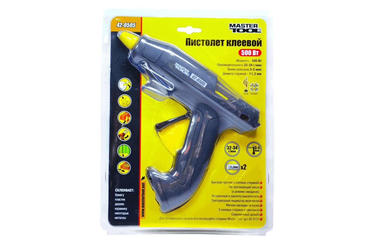 Пистолет клеевой Mastertool - 500 Вт, 34 г/мин 2