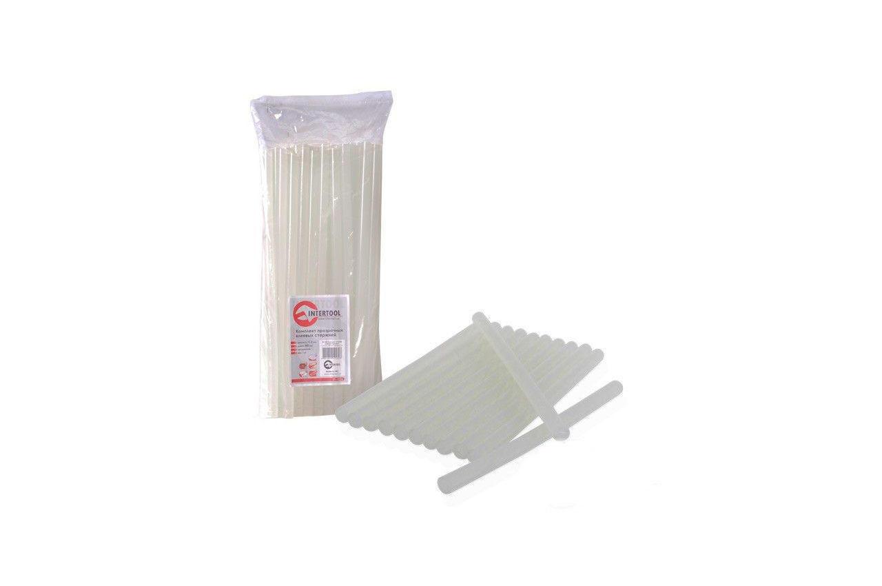 Клеевые стержни Intertool - 11,2 х 300 мм, прозрачные пакет (1 кг) 2