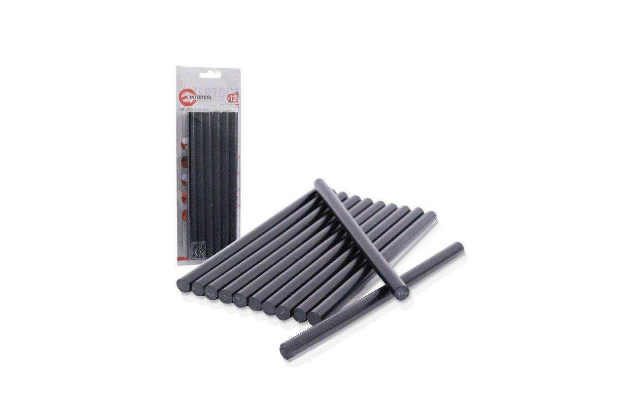 Клеевые стержни Intertool - 11,2 х 200 мм, черные 1