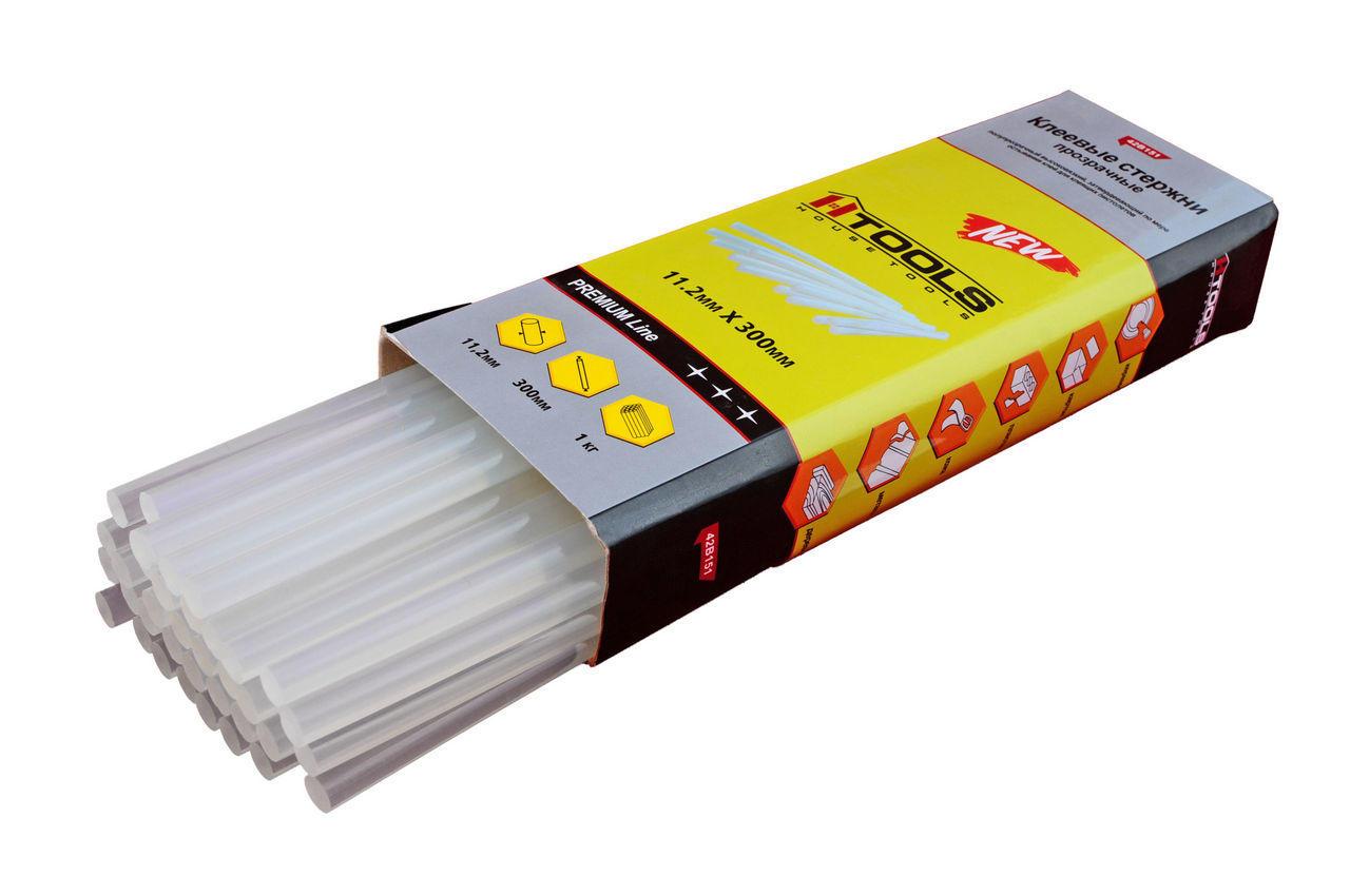 Клеевые стержни Housetools - 11,2 х 300 мм, прозрачные (1 кг) 1
