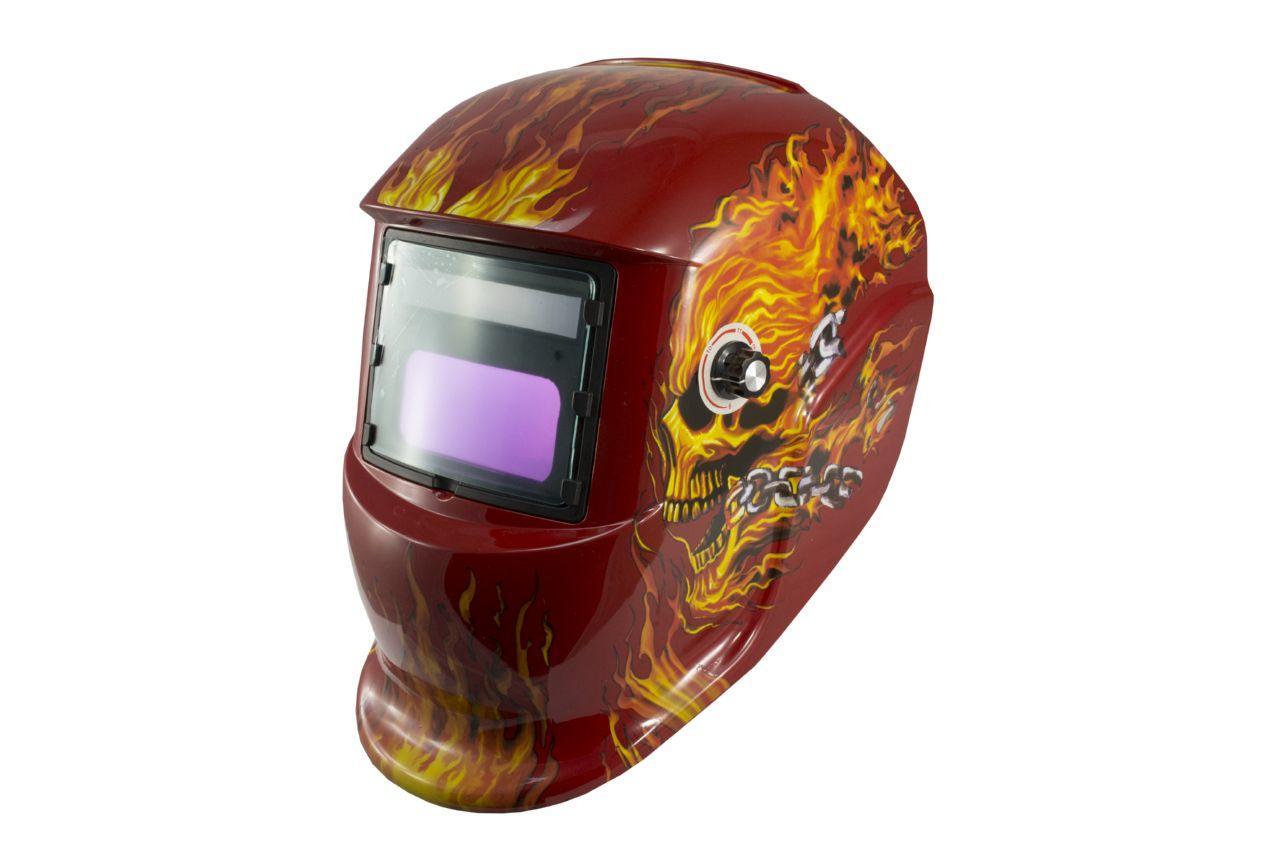 Маска сварочная Асеса - хамелеон TH-41-C518 красный череп 1