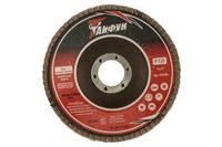Круг лепестковый торцевой Тайфун - 125 мм Р120 металл прямой