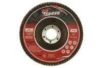 Круг лепестковый торцевой Тайфун - 125 мм, Р60 металл изогнутый