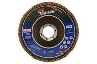Круг лепестковый торцевой Тайфун - 125 мм Р100 цирконий прямой