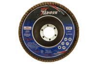 Круг лепестковый торцевой Тайфун - 125 мм, Р80 цирконий изогнутый