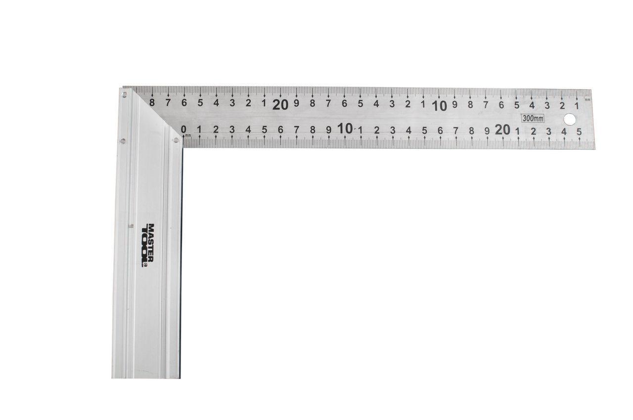 Угольник Mastertool - 300 мм, алюминий + нержавеющаяя сталь 1