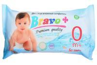 Салфетки влажные Bravo - детские (60 шт.)
