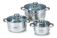 Набор посуды нержавеющий Maestro - 1,5 х 3 х 5 л, (3 шт.) MR-2220-6L